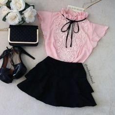 BLUSA LOLITA  DELUXE D/ RENDA (  COR  Rosê) Kawaii Fashion, Cute Fashion, Look Fashion, Korean Fashion, Kids Fashion, Vintage Fashion, Womens Fashion, Trendy Outfits, Girl Outfits