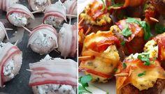 Houbové bombičky obalené ve slanině....... http://www.nejrecept.cz/recept/houbove-bombicky-obalene-ve-slanine-r3620