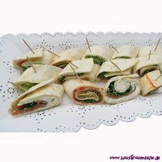 Party-Wraps dreierlei Wrap-Röllchen sind unsere Party-Wraps