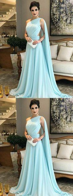 Chic A Line Chiffon Prom Dress Modest Beautiful Cheap Long Prom Dress