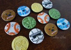 Chewbacca, R2-D2, C-3PO, Captain Phasma, BB-8, Yoda STARWARS, Starwars cookies