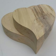 Pair of wooden hearts wooden hearts wood by CottageCoppicing