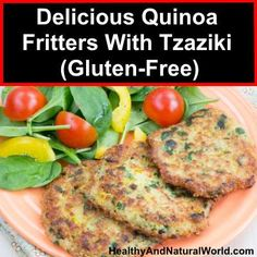 Delicious Quinoa Fritters With Tzaziki (Gluten-Free)