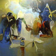 Moris GONTARD, Propriété privée, 210 x 210 cm, huile et acrylique sur toile. http://www.galeriealaindaudet.fr/moris-gontard/