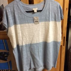 NWT J. Crew sweater top Never worn. Size xs. It's like a thin sweater material. J. Crew Tops
