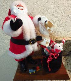 sants with list...Rare Vintage Simpich Santa With Toy Bag and Checklist in Santa | eBay