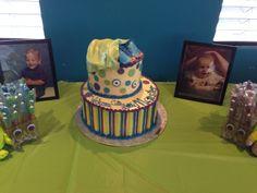 Monster Inc Shower Cake