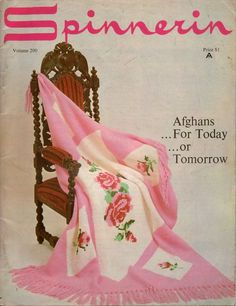 Spinnerin 200 Afghans Today Tomorrow Knitting Crochet Patterns Butterfly 1970 #Spinnerin #KnittingCrochetPatterns