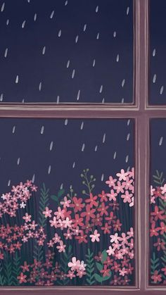 Rain Window Flower #FlowerTheme #MinimalTheme