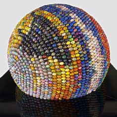 Sphere of Good and of Spiritual Renaissance.  Sphere made of hand decorated Pysanky eggs
