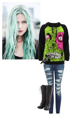 """*has blood on her jacket and knife* bîtches will pay for destroying us -Lilly"" by rebel-sixx ❤ liked on Polyvore featuring art"