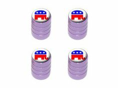 How Republican are you? I bet you don't have these tire rim valve caps.