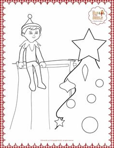 Elf on the shelf coloring pages Christmas Coloring Pages