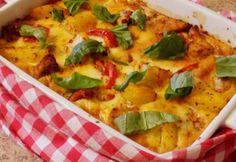 Csirke gratin olaszosan Okra, Vegetable Pizza, Thai Red Curry, Quiche, Avocado, Vegetables, Breakfast, Ethnic Recipes, Food