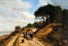 The Road from Trouville to Honfleur - Eugene Boudin - 1852 - WikiArt.org