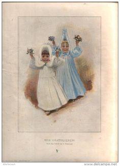 """Wir Gratulieren - Druck, entnommen  aus """"die Gartenlaube"""", 1897"""