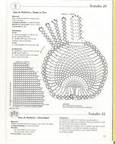 As Receitas de Crochê: Jogo de banheiro coração em croche