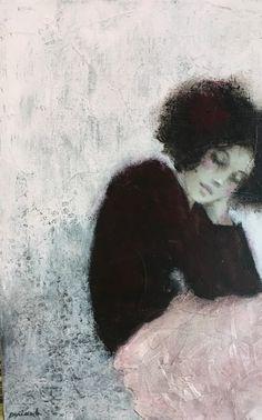 Carine Bouvard - The UK's Premier Antiques Portal - Online Galleries Painting People, Figure Painting, Painting & Drawing, Modern Art, Contemporary Art, Art Graphique, Portrait Art, Figurative Art, Love Art