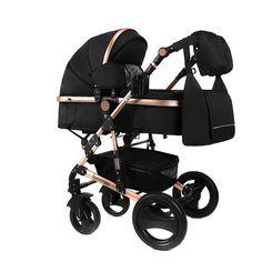 Kombikinderwagen Baby Kinderwagen 2 In 1 Kinderwagen Kinderwagen Twin Kinderwagen Luxus Reversibel Kleinkind Kinderwagen F/ür 0-3 Jahre Alten Outdoor Jogger Reisen Mit 15kg