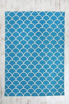 5x7 Stamped Scallop Rug