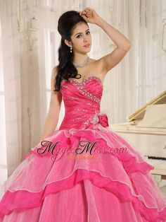 d292d82857c wholesale hot pink sweetheart beaded decorate and ruch bodice ruffled  layeres rosario quinceanera dress in 2013