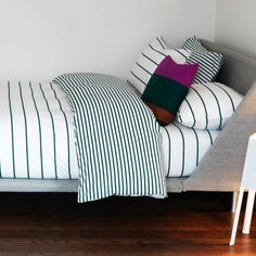 I love stripes and I love these bedlinens #bedroom $148