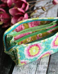 ich konnte nicht anders... noch eine Sew Together Bag.. diesmal in Grün - für den Frühjahrsputz im Stoffregal