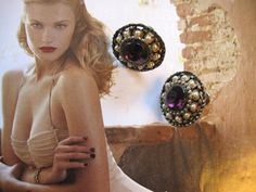 Retro Goldtone faux Pearl and Garnet Earrings by jewelryandthings2, $23.00