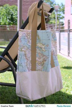 ¿Te gustan las bolsas de tela? A mí me encantan, y tengo de todos los tamaños. Pero no tenía una suficientemente grande para ir a la piscina o a la playa, en la que cupieran un par de toallas, o tr…