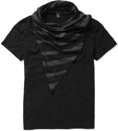 Alexander McQueen Detachable Scarf T-shirt