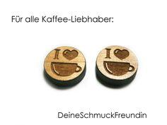 Ohrstecker Kaffee Holz