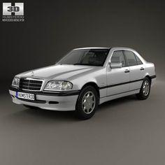 Mercedes-Benz C-Class (W202) sedan 1997 3d model from humster3d.com. Price: $75