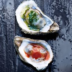 Grilled Oysters by bonappetit #Oysters #Grill