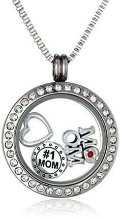 Charmed Lockets 1 Mom Pendant Necklace Floating Charm Set 24 -- Check out the image by visiting the link. (This is an affiliate link) #Necklaces