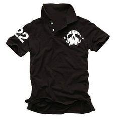 Coole Fun T-Shirts skull 22 Poloshirt DEADHEAD POLO, black, Grösse: XXL