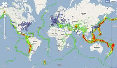 Global earthquake activity and nuclear power plant locations