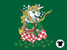 Pop culture mashups and nostalgia art. Nostalgia Art, Luck Of The Irish, 3 Kids, Large Women, Green Fashion, Leprechaun, Embedded Image Permalink, 9 And 10, Cool T Shirts