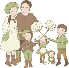 Peikonpoikaset perhepotretissa