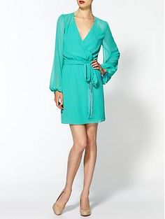 Erin Fetherston Cape Sleeve Wrap Dress | Piperlime