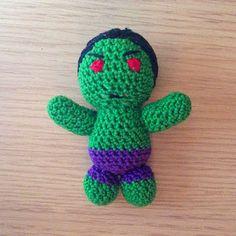La piccola bottega della Creatività: Hulk amigurumi - Tutorial uncinetto free crochet pattern