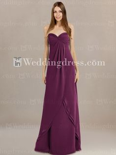 Strapless Long Bridesmaid Dress_Berry