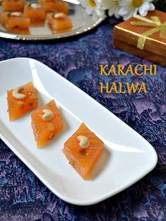 Corn Flour Halwa / Karachi Halwa ~ Simple & Quick Indian Sweet...
