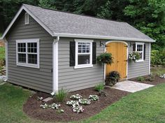 Considering a garden shed? Then before you embark on your project make sure you have a reliable shed plan for the design Backyard Cottage, Backyard Studio, Backyard Sheds, Outdoor Sheds, Garden Sheds, Steel Framing, Shed Landscaping, Build Your Own Shed, Modern Shed