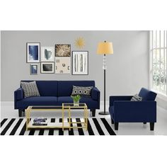 dhp metro navy blue futon sofa bed   253      liked on polyvore featuring home overstock      300 dhp u0027s metro futon convertible sofa bed in      rh   pinterest