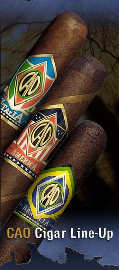CAO Cigars - The Italia, The America & The Brazilia All three very good