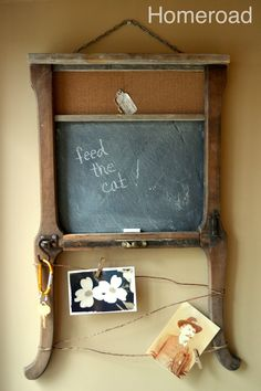 homeroad: Upcycled Message Center