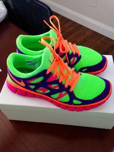 Nice Color! Nike Run Free 2 custom color Womans Shoe.