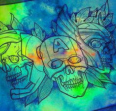Avengers tattoo idea watercolour