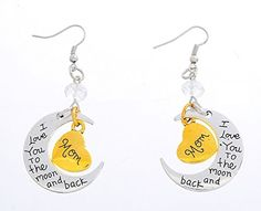 Xiehou Mom I Love You to the Moon and Back Engraved Heart Crescent Bead French Wire Drop Earrings Xiehou http://www.amazon.com/dp/B00WEANIN0/ref=cm_sw_r_pi_dp_.gzovb0RS8CYK