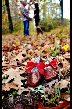 Fall Autumn maternity photography. I snapped a pic of these sparkly baby ruby red slippers! So cute!